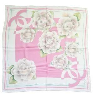 Chanel Pink Camilla Print Silk Scarf NWT
